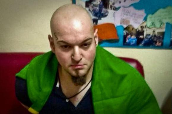 Luca Traini, el militante fascista que atacó a los inmigrantes africanos. Foto: Efe.