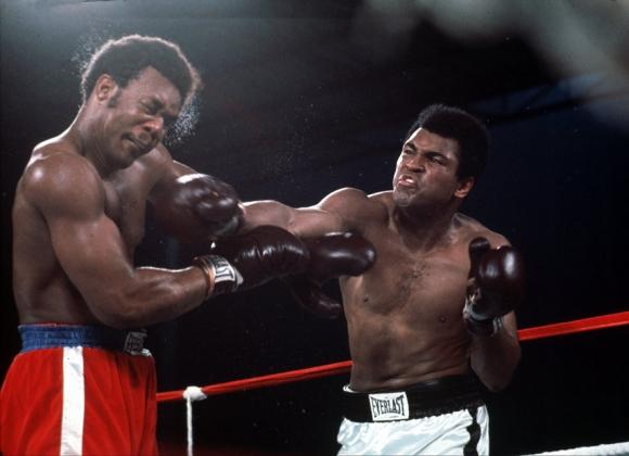 La legendaria pelea entre Muhammad Ali y George Foreman el 30 de octubre de 1974.
