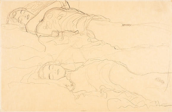 """""""Dos mujeres acostadas"""" de Klimt"""