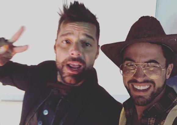 Ricky Martin junto a Fernando Cristino. Foto: @fer.cristino