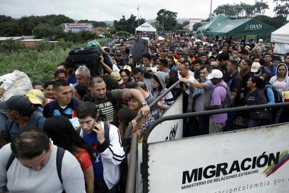 La ciudad de Cúcuta, en Colombia, se tornó una frontera caliente. Foto: Reuters