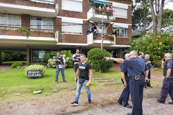 """""""Estamos orgullosos de la Policía, fue un ejemplo de eficiencia"""". Foto: R. Figueredo"""