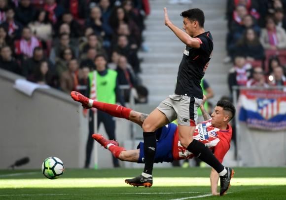 José María Giménez protagonizó un buen partido ante el Bilbao