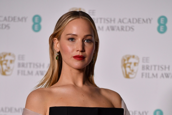 Jennifer Lawrence en los BAFTA 2018.