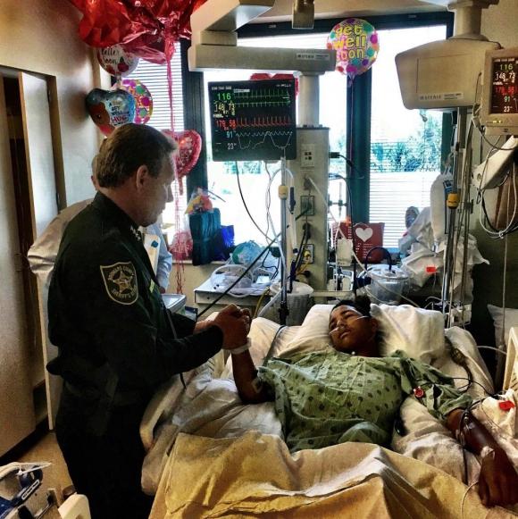Anthony Borges sigue recuperándose. Foto: Twitter @browardsheriff