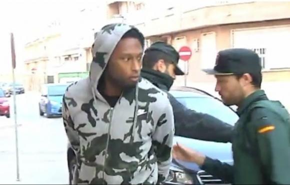 Ruben Semedo en el momento de la detención policial