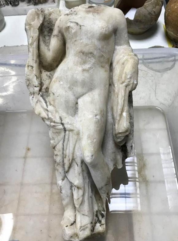 La estratua de Afrodita, diosa de la belleza y el amor, encontrada en Salónica. Foto: Difusión