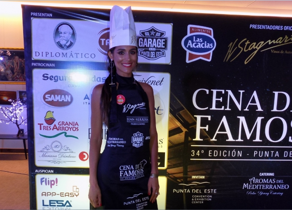 Valentina Barrios en la Cena de Famosos.