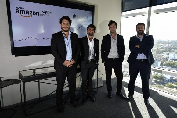 El equipo de la empresa con foco en la educación financiera Regum. Foto: F. Ponzetto