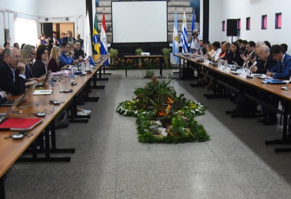 Reunión de representantes del Mercosur y la UE. Foto: AFP