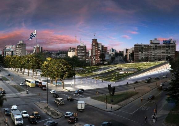 Tres Cruces: para renovar la Plaza de la Democracia se llamó a concurso. Foto: Difusión