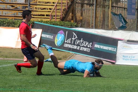 Los Teros vencieron como visitantes a Chile en Santiago. Foto: @RugbyUruguay.