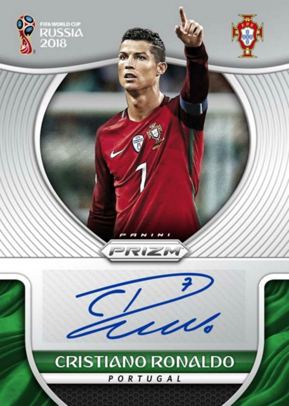 Cristiano Ronaldo y la figurita que incluirá su firma