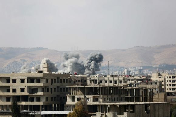 Guta está desde el 18 de febrero bajo fuego del régimen sirio. Foto: AFP
