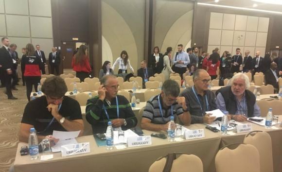 La delegación uruguaya presente en Sochi