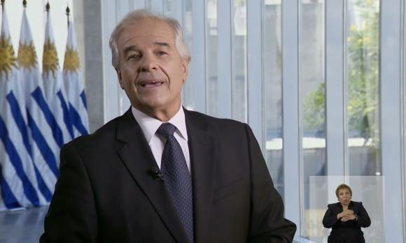 Fernando Vilar en cadena nacional del gobierno. Foto: Captura Presidencia