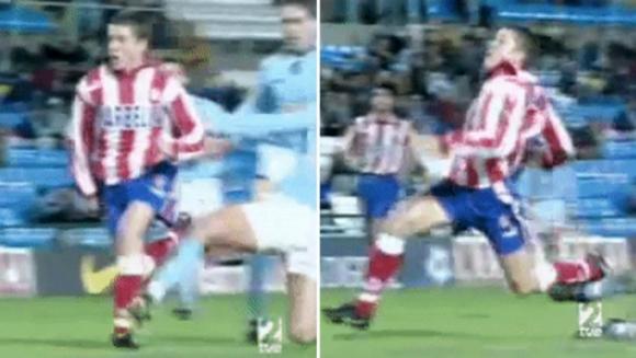La entrada de Michel Salgado a Juninho