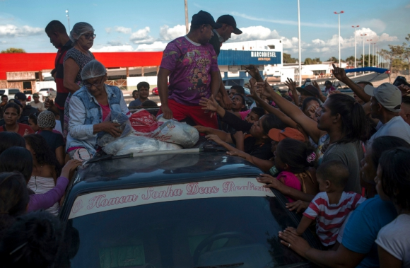 La ciudad de Boa Vista alberga a miles que escaparon del régimen chavista. Foto: AFP