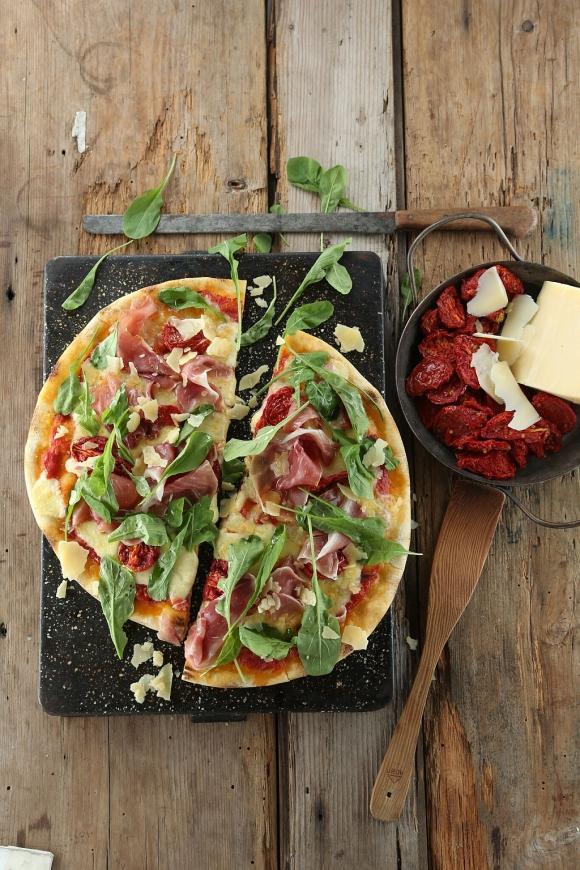 Manolo y Francesca. Es la pizza más vendida por la cadena argentina. (Foto: Gentileza Almacén de Pizzas)