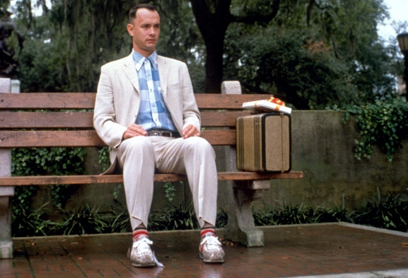 Regalo. Forrest Gump recibió el par de Nike y nunca más se los quitó.