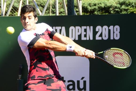 Cristian Garín, el chileno que es sorpresa en el Punta Open. Foto: Ricardo Figueredo.