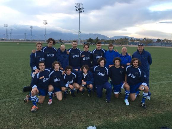 Los Teros en un entrenamiento en Las Vegas. Foto: @RugbyUruguay.