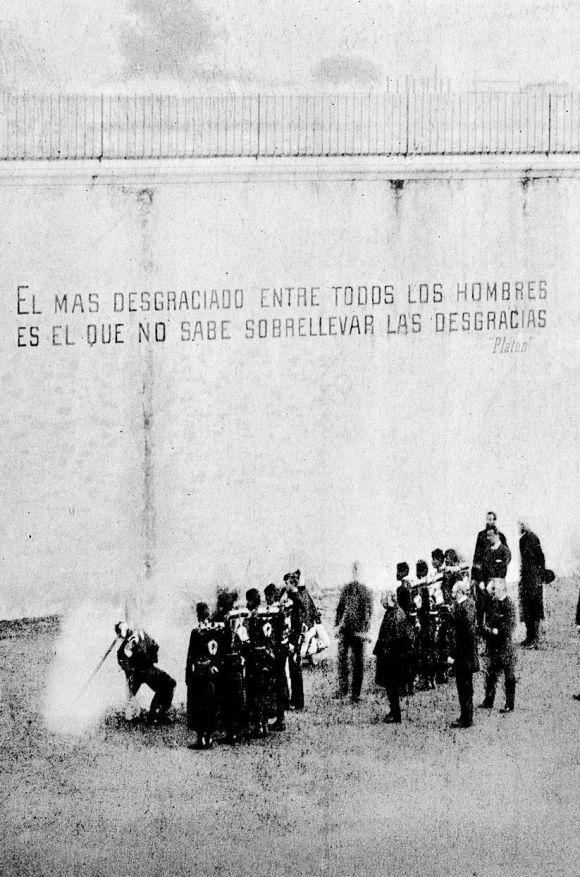Fusilamientos de Facundo Luna y Carlos Bejarano en la cárcel de Miguelete, en 1892. Foto: Dominio Público