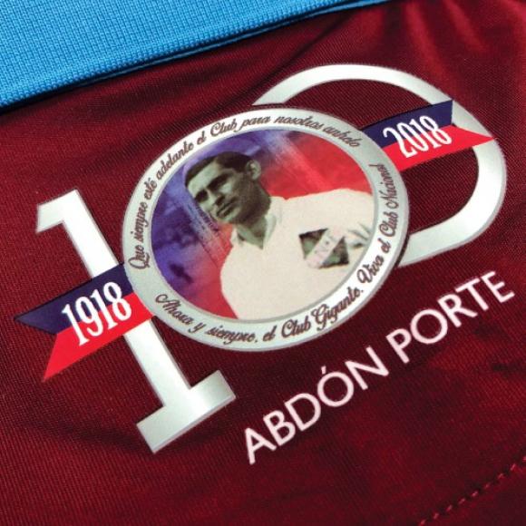 Camiseta de Nacional en homenaje a Abdón Porte. Foto: Umbro.
