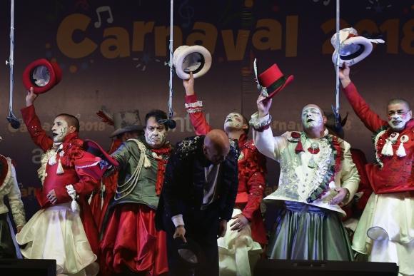Saltimbanquis en el Carnaval 2018