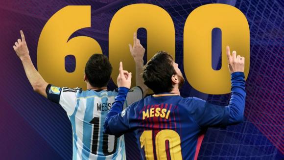 Messi llegó a su gol 600 en su carrera