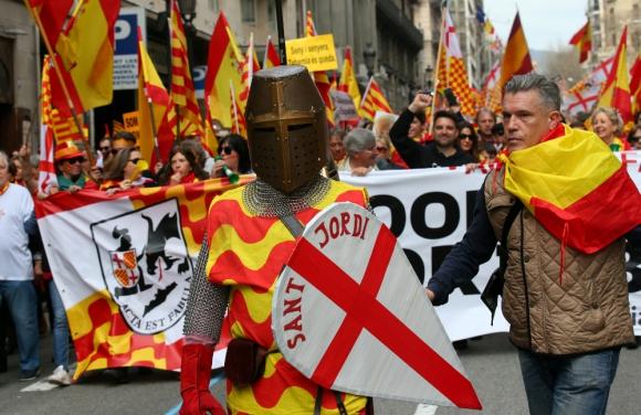 """""""Tabarneses"""", son catalanes que quieren permanecer en España. Foto: Reuters"""