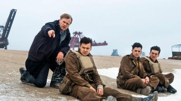 "Christopher Nolan en el set de ""Dunkerque"""