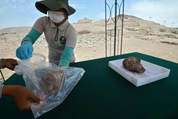 """Hallazgos en """"El Rosal"""" datan de entre el 100 y el 650 d.C. Foto: AFP"""
