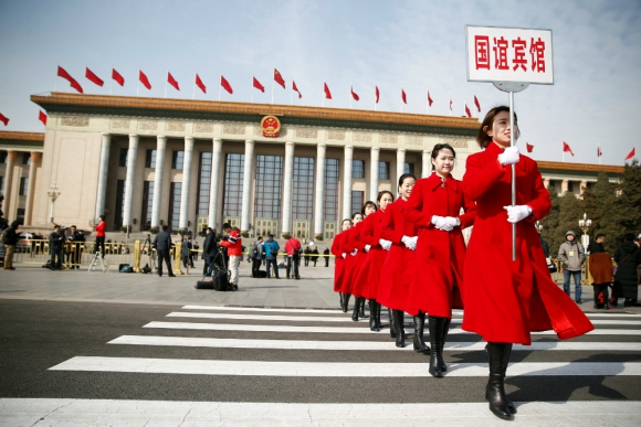 Pekín: ayer se inauguró la Asamblea Nacional Popular. Foto: Reuters