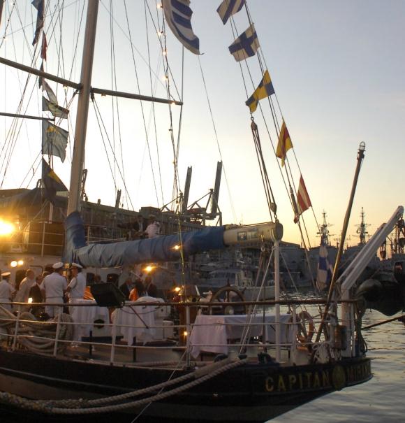 Capitán Miranda: volverá a desplegar sus velas en abril. Foto: archivo El País