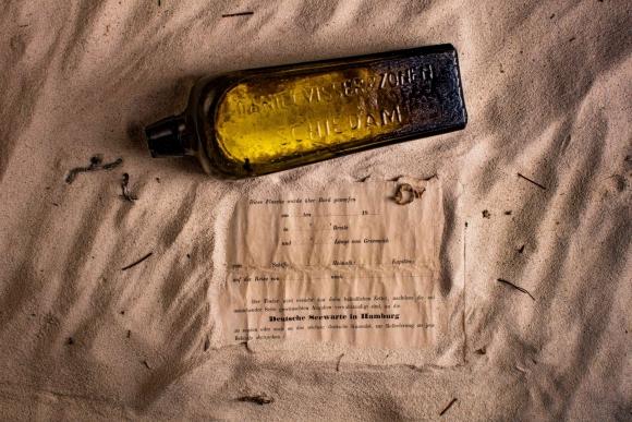 Mensaje más antiguo en una botella. Cortesía de la familia Illman a AFP