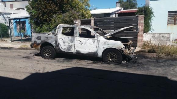 La camioneta en la que escaparon. Foto: El País