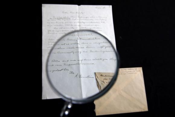 Carta de Einstein. Foto: AFP