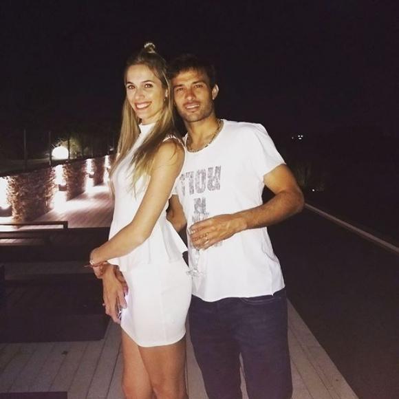 Cecilia Bonelli y Dario Cvitanich. Foto: @chechubonelli