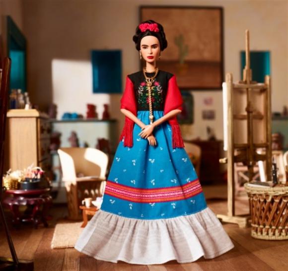 La Barbie inspirada en Frida Kahlo. Foto: Mattel