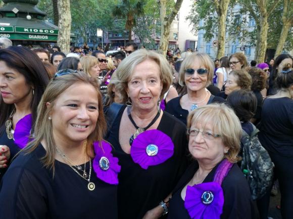 María Julia Muñoz en la marcha por el Día Internacional de la Mujer. Foto: Silvana Nicola