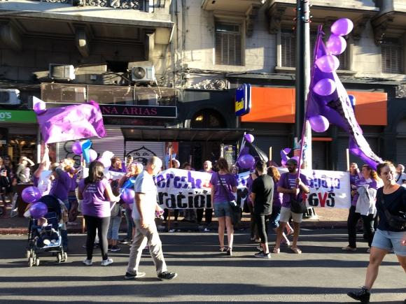 Marcha por el Día Internacional de la Mujer. Foto: Mariana Malek