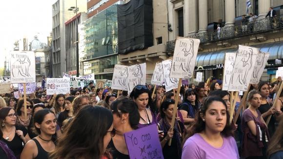 Marcha por el Día de la Mujer. Foto: Mariana Malek