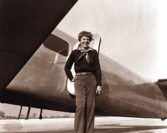 Amelia Earhart. Foto: AFP