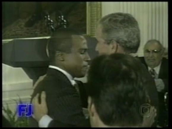 Alexandre Pires en la Casa Blanca