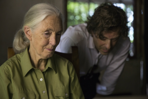 Jane Goodall junto al director Brett Morgen