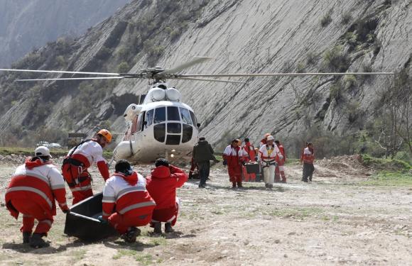 Tragedia aérea en Irán. Foto: Reuters