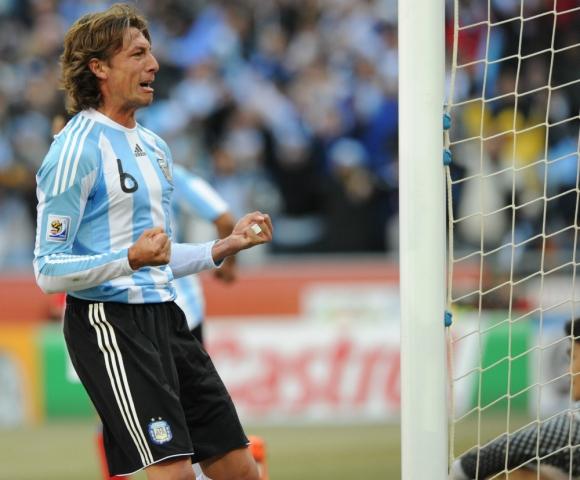 Gabriel Heinze en el Mundial de Alemania 2006. Foto: AFP.