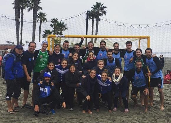 Beach handball de Uruguay en el Panamericano de Estados Unidos.