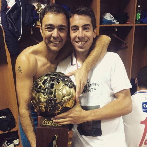 Álvaro Recoba y Carlos De Pena. Foto: @alvaro_recoba20